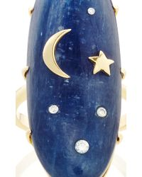 Andrea Fohrman - Blue One Of A Kind Kyanite Ring With Diamonds, Gold Star & Moon - Lyst