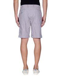 Incotex - Blue Bermuda Shorts for Men - Lyst