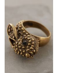 Alkemie | Metallic Roaming Rabbit Ring | Lyst