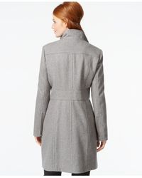 Kenneth Cole | Gray Zip-cuff Wool Walker Coat | Lyst