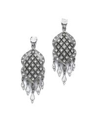 Ben-Amun | Metallic Woven Crystal Earrings - Crystal | Lyst