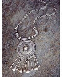 Free People - Metallic Womens Silver Shield Statement Pendant - Lyst