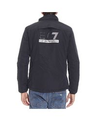 EA7 - Blue Down Jacket for Men - Lyst