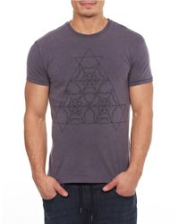 William Rast | Blue Cotton Graphic Tee for Men | Lyst