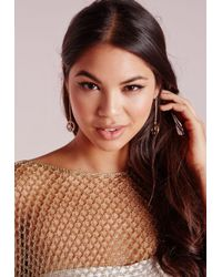 Missguided - Metallic Peace Earrings Gold - Lyst