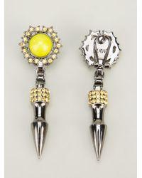 Mawi - Metallic Dropped Stud Earrings - Lyst