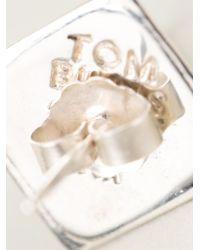 Tom Binns - Metallic Pyramid Stud Earrings - Lyst