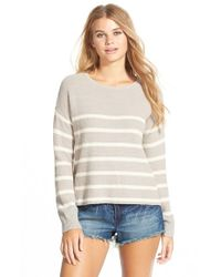 Volcom - Natural 'fine Lines' Stripe Pullover - Lyst