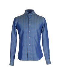 Gabriele Pasini - Blue Shirt for Men - Lyst