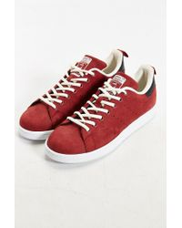 Adidas - Red Originals Stan Smith Nubuck Sneaker for Men - Lyst