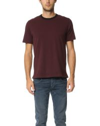 Rag & Bone | Red Contrast Ringer Tee for Men | Lyst