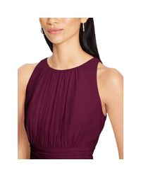Ralph Lauren | Purple Shirred Georgette Dress | Lyst