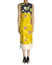 Dries Van Noten - Yellow 3/4 Length Dress - Lyst
