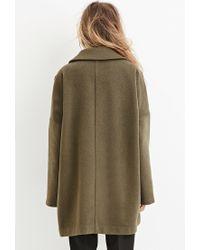Forever 21 | Green Longline Wool-blend Coat | Lyst