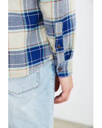 Stapleford | Blue Kettle Plaid Flannel Button-down Shirt for Men | Lyst