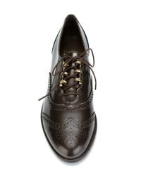 Stuart Weitzman - Black Youngster Leather Brogues - Lyst