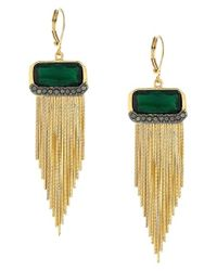 Vince Camuto | Metallic Fringe Drop Earrings | Lyst