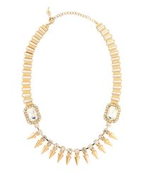 Fragments | Metallic Crystal Spike Station Necklace | Lyst