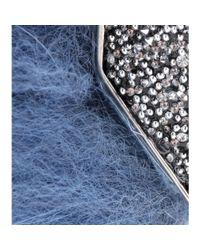 Fendi - Blue Embellished Fox Fur Ear Cuff - Lyst