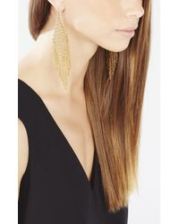 BCBGMAXAZRIA | Metallic Mesh Diamond Fringe Earrings | Lyst