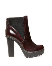 Steve Madden | Multicolor Amandaa Platform Leather Ankle Booties | Lyst