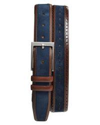 Mezlan | Blue Suede Belt for Men | Lyst