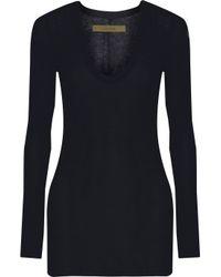 Enza Costa | Blue Stretch-jersey Top | Lyst