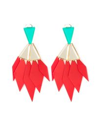 Silvia Rossi | Green 'odd Couple' Earrings | Lyst