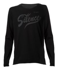 Lucien Pellat Finet - Black 'silence' T-shirt for Men - Lyst