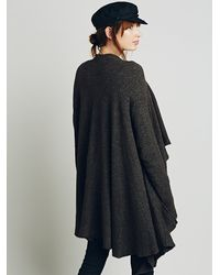 Free People - Brown Womens Waterfall Cardi - Lyst