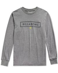 Billabong | Gray Branded T-shirt for Men | Lyst