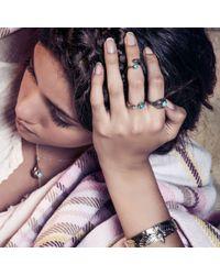 Pamela Love | Blue Eden Ring In Brass | Lyst