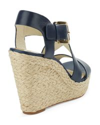 MICHAEL Michael Kors | Blue Giovanna Wedge Sandals | Lyst