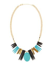 Panacea | Blue Pyrite & Howlite Spike Necklace | Lyst