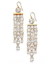 Lauren by Ralph Lauren | Metallic Linear Chandelier Earrings | Lyst