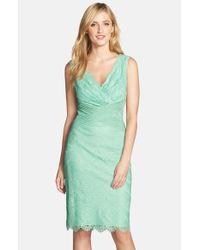 Tadashi Shoji | Green Mint Sheath Dress | Lyst