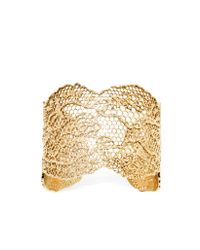 Aurelie Bidermann | Metallic Vintage Lace Gold Plated Bracelet | Lyst