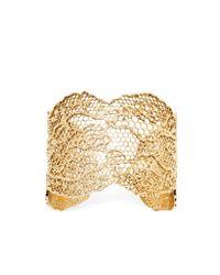 Aurelie Bidermann | Metallic Vintage Lace Gold Plated Bracelet | Lyst
