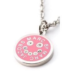 Marc By Marc Jacobs - Pink Enamel Disc Pendant Necklace - Lyst