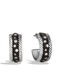 David Yurman - Metallic Midnight Melange Earrings With Diamonds - Lyst
