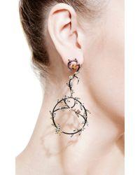 Bochic | Metallic Diamond Vine Earrings | Lyst