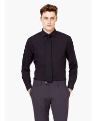 Mango | Black Slim-fit Tailored Cotton Shirt for Men | Lyst