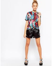 Jaded London - Multicolor Feather Print T-shirt - Lyst