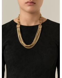 Lanvin | Metallic 'matinee' Necklace | Lyst