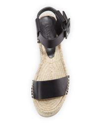 Vince - Black Abby Platform Espadrille Sandals - Lyst