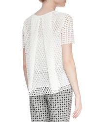 Tory Burch - White Crescent Guipure Lace Tee - Lyst