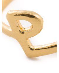 Bjorg | Metallic P Alphabet Ring | Lyst