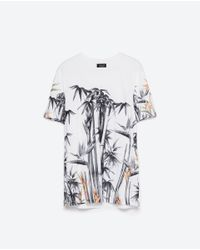 Zara | White Short Sleeve T-shirt for Men | Lyst
