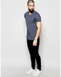Hilfiger Denim | Gray T-shirt In Crew Neck In Twisted Yarn for Men | Lyst