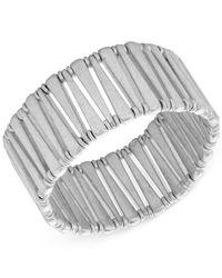 Lucky Brand | Metallic Silver-tone Bar Stretch Bracelet | Lyst